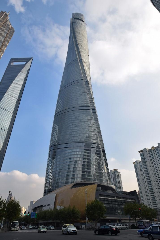 فرم مخروطی برج شانگهای