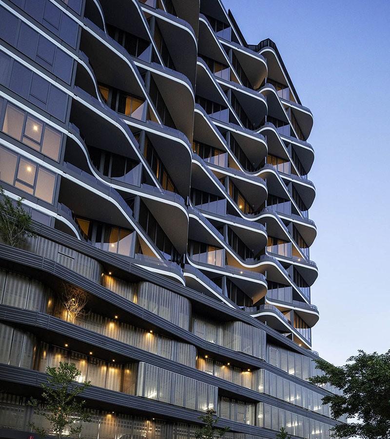 طراحی نمای ساختمان مسکونی آریاز دیزاین