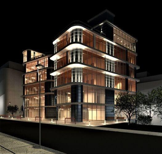 نورپردازی هنرمندانه در نمای ساختمان مسکونی آریاز دیزاین