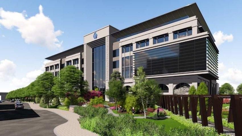 ایجاد فضای سبز در ورودی ساختمان