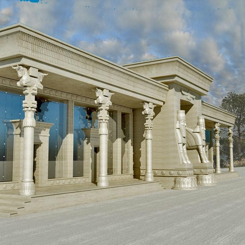طراحی نمای کلاسیک به سبک ایرانی آریاز دیزاین