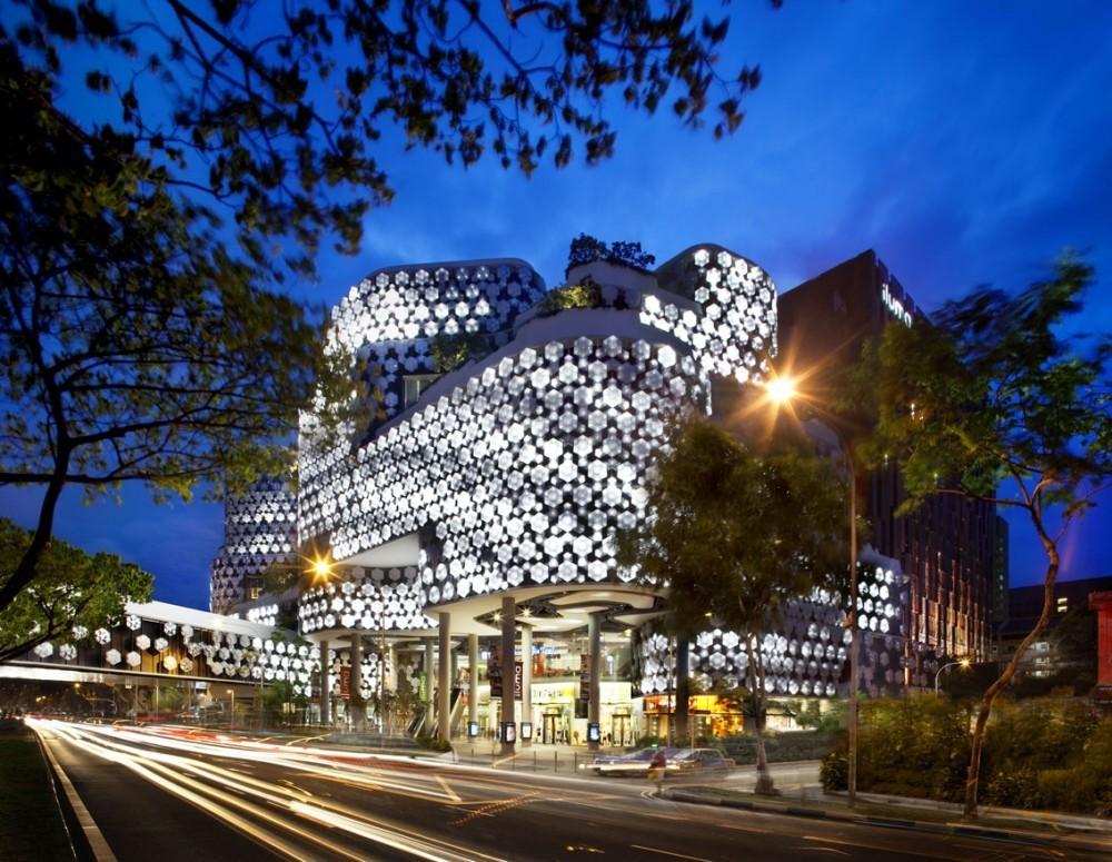 نورپردازی نمای ساختمان آریاز دیزاین