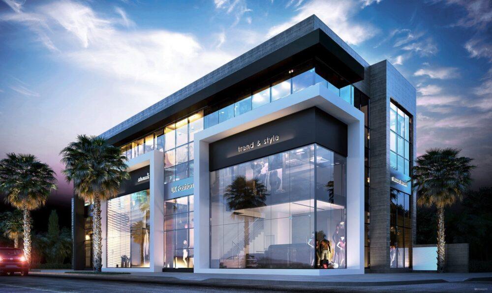 نمای بیرونی و دکوراسیون داخلی ساختمان آریاز دیزاین