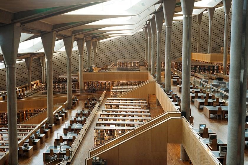 کتابخانه اسکندریه مصر اثر بهرام شیردل