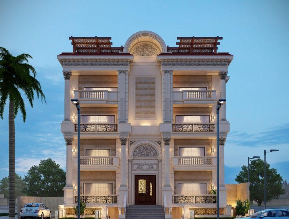 تناسب ورودی ساختمان باید با سایر اجزای نما آریاز دیزاین