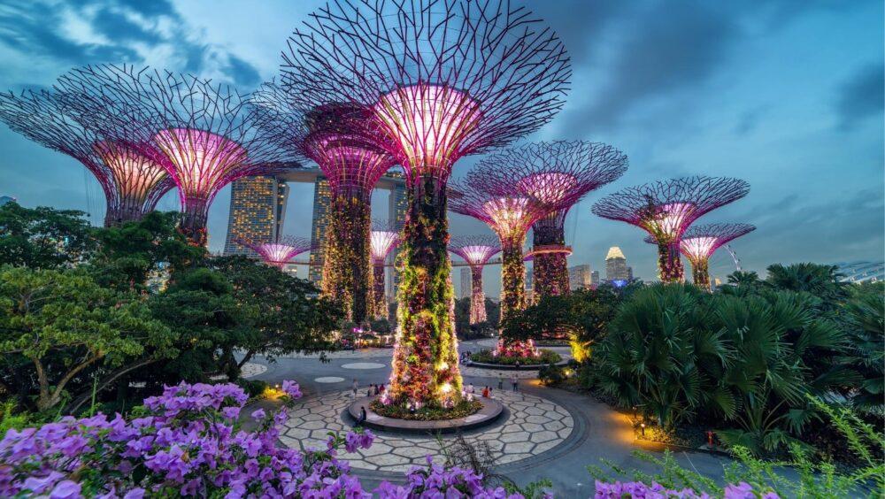 بهترین ساختمان های طراحی شده در جهان -باغ خلیج مارینا - آریاز دیزاین