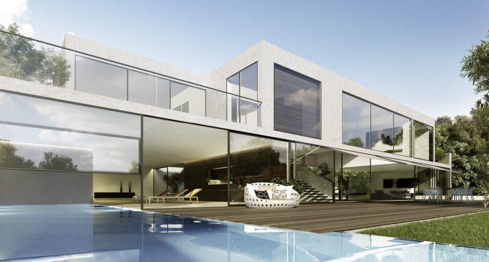 قیمت طراحی نمای شیشه ای ساختمان-آریاز دیزاین